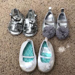 3 pair size 2 infant shoes